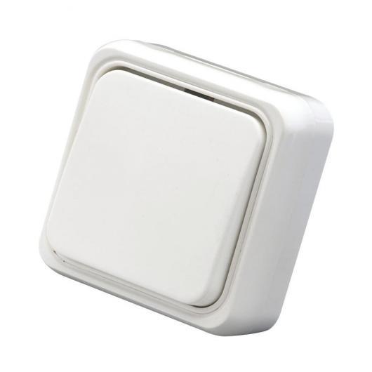 Pulsante a incasso Bianco Duolec