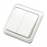 Double interrupteur encastrable Duolec blanc