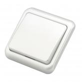 Interrupteur lumière de surface Duolec blanc
