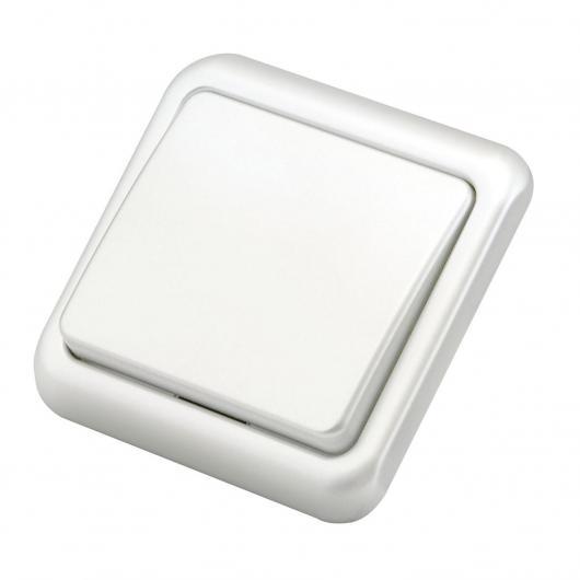 Interruptor luz de superficie Blanco Duolec