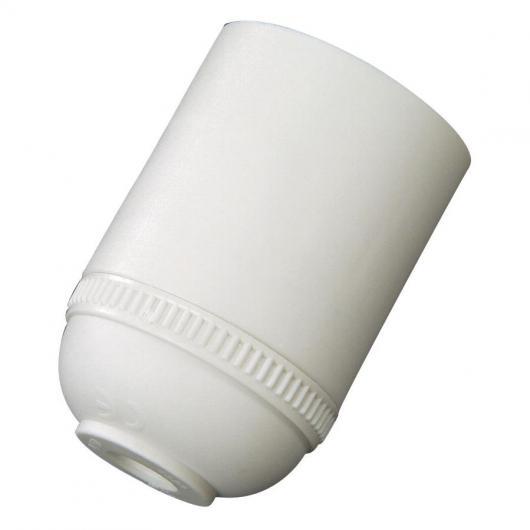 Douille filetée E-27 4 A 250 V Duolec blanc