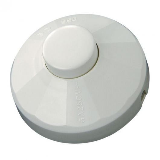 Interruptor de pie 10 A 250 V Blanco DUOLEC