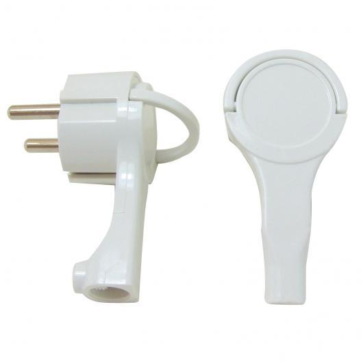 Connecteur à broches latéral extra plat 16 A 250 V Duolec blanc