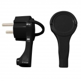Connecteur à broches latéral extra plat 16 A 250 V Duolec noir