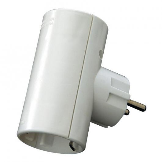 Adattatore presa doppia 16 A 250 V Bianco Duolec