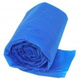 Coberta para piscina oval de madeira composta de 524x386x124 cm