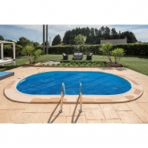Coberta para piscina oval enterrada 500x300 cm