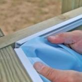 Liner azul com sistema de suspensão piscina Avila, 942x592x146cm, Gre