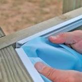 Liner azul com sistema de suspensão piscina quadrada, 300x300x119 cm, Gre