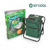 Cadeira desdobrável com saco térmico e mochila