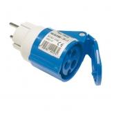 Adattatore domestico industriale 2P+TTL Base 2P+T IP40 16 A 250 V