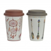 Caneca térmica (travel mug) de porcelana Dream Catcher, Naturcid