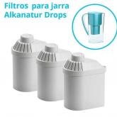 Confezione 3 filtri Alkanatur