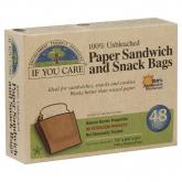Sacchetti di carta per sandwich e snack If You Care 48 u