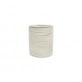 Corda de algodão branco 100% natural , 4mm, 25 m
