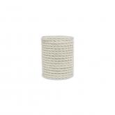 Corda di cotone bianco naturale 100% 6mm 15m