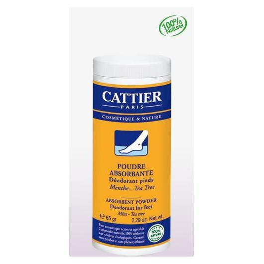 Polvere assorbente per piedi Cattier, 65g