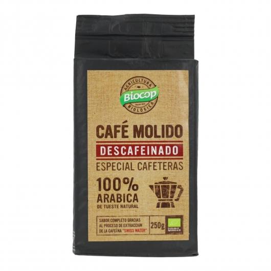 Café moulu décaféiné 100% Arabica Biocop 250 g