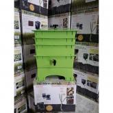 Vermicompostor Verde de 3 tabuleiros - The Worm Works