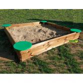 Caixa de areia infantil deluxe retangular