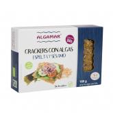 Biscuit apéritif à base d'épeautre, sésame et algues Algamar, 150 g