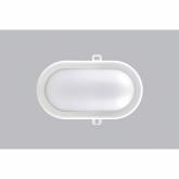 Aplique oval branca de 8w