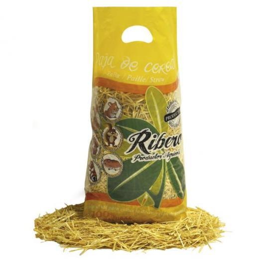 Paille naturelle de céréales pour animaux domestiques 15 litres Ribero