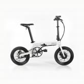 Bicicleta elétrica desdobrável Fun Bike Oops, branco