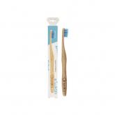 Escova de dentes de bambu azul adultos, Nordics Oral Care