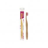 Escova de dentes de bambu rosa adultos, Nordics Oral Care