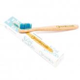 Escova de dentes de bambu azul para crianças, Nordics Oral Care