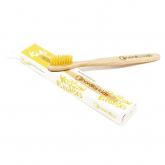 Escova de dentes de bambu amarela para crianças, Nordics Oral Care