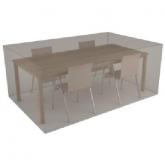 Rivestimento rettangolare beige copri tavolo e 4 sedie