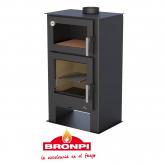 Stufa a legna con forno Bronpi Modello Gijón H