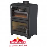 Stufa a legna con forno Bronpi Modello Murano