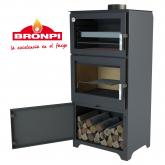 Stufa a legna con forno Bronpi Modello Murano L