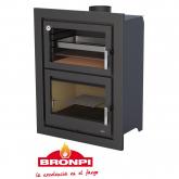 Stufa a legna con forno Bronpi Modello Murano E