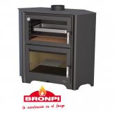 Stufa a legna con forno Bronpi Modello Murano R