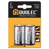 Pilha súper alcalina 2 ud LR14 Duolec