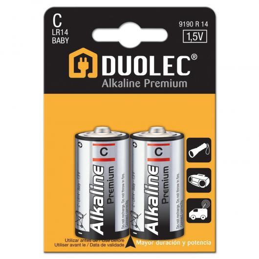 Pila super alcalina 2 unità LR14 Duolec