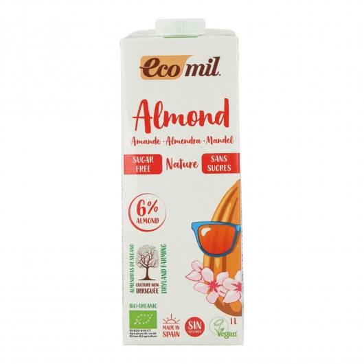 Lait d'amande bio non sucré EcoMil 1 L