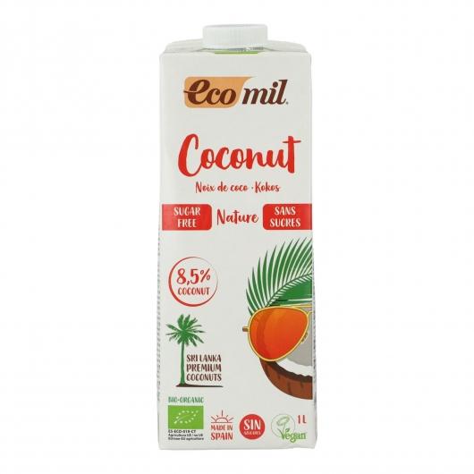 Lait de coco sans sucre, sans gluten et sans lactose EcoMil 1 L