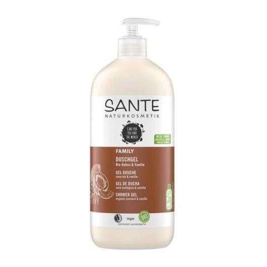 Gel douche bio noix de coco et vanille Sante, 950 ml