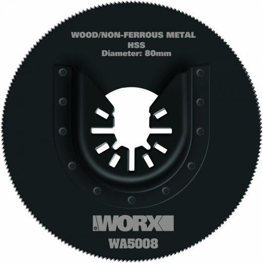 Hoja para sierra circular Worx HSS 80 mm