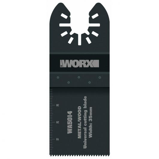 Jeu de 2 lames de scie Worx universelle bimétallique de 35 mm