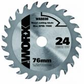 Disco de corte Worx para madeira de 76 mm e 24 dentes