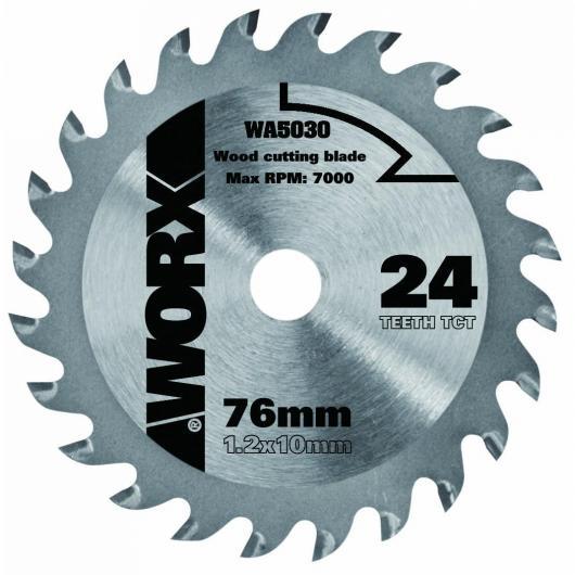 Disco de corte Worx para madera de 76 mm y 24 dientes