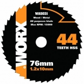 Disco multiuso Worx di  Ø 76 mm e 44 denti