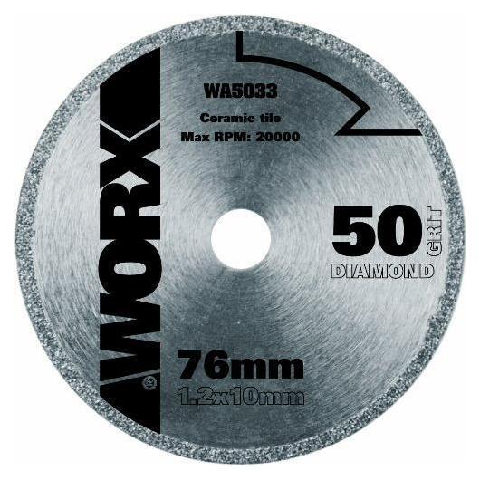 Disque de coupe diamant Worx Ø 76 mm