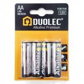 Pila super alcalina 4 unità AA LR06 Duolec